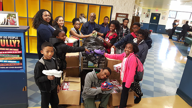 Lawrenceville-Club-collects-shoes-for-kids-in-Africa